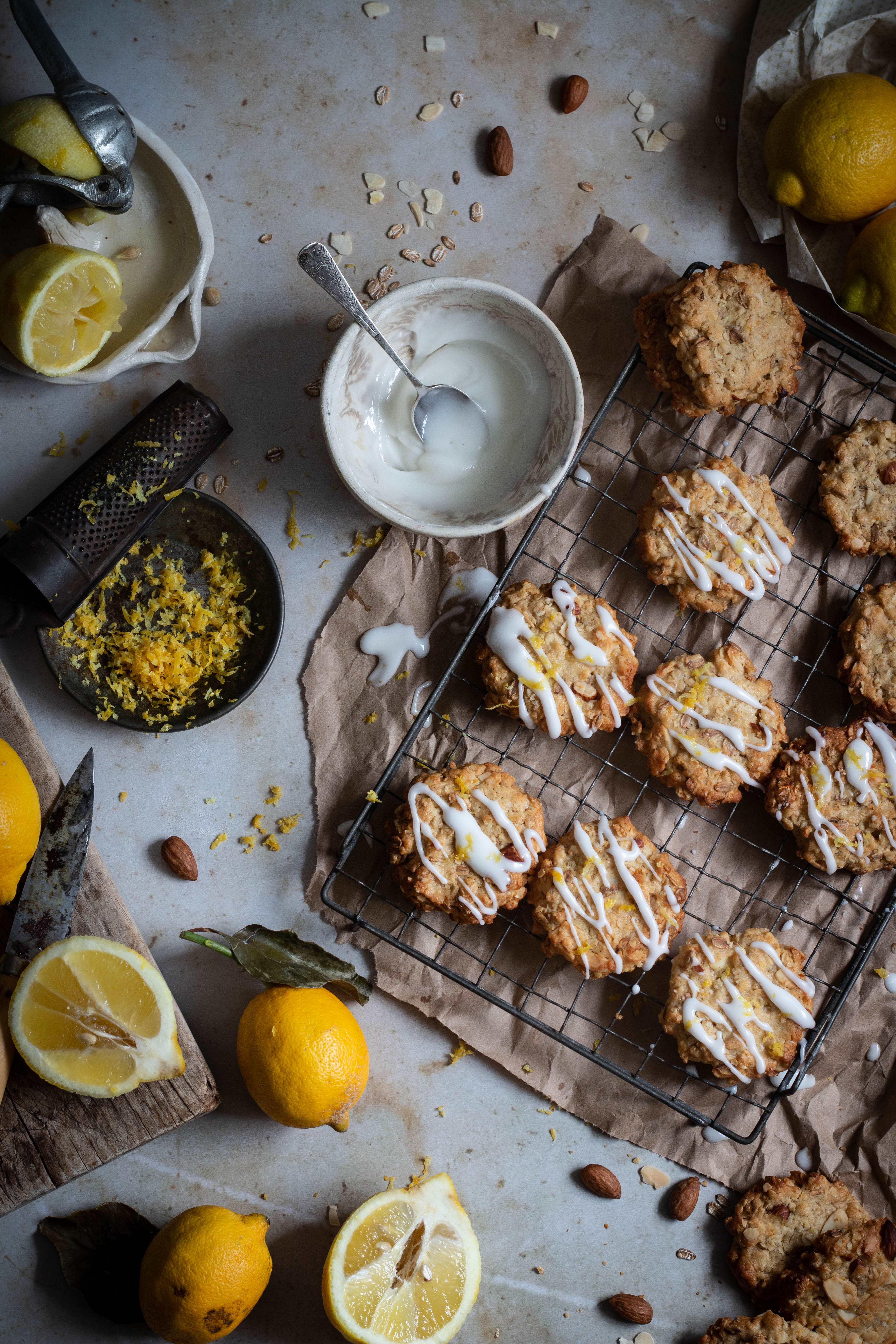 lemon oatmeal almond cookie recipe