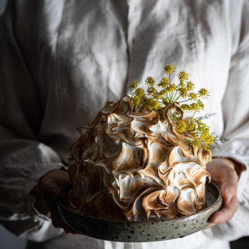 fennel honey ricotta baked alaska